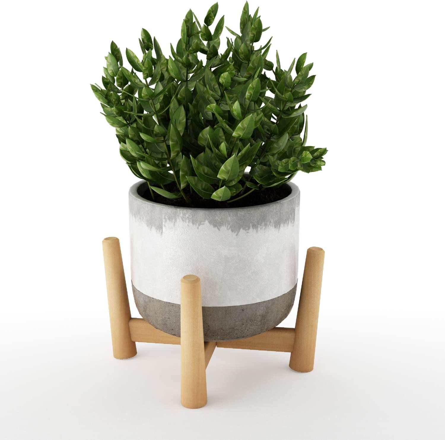 Plant Stand Mid Century Modern Flower Pot Stand Small Potted Plant Holder, 5.3 X 4.3 Inch (Planter Not Included)