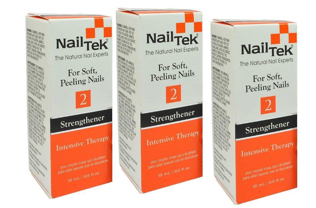 Nail Tek #2 Strengthener Intensive Therapy For Soft Peeling Nail - Size 0.5oz/15ml (Pack 3) by Nail Tek