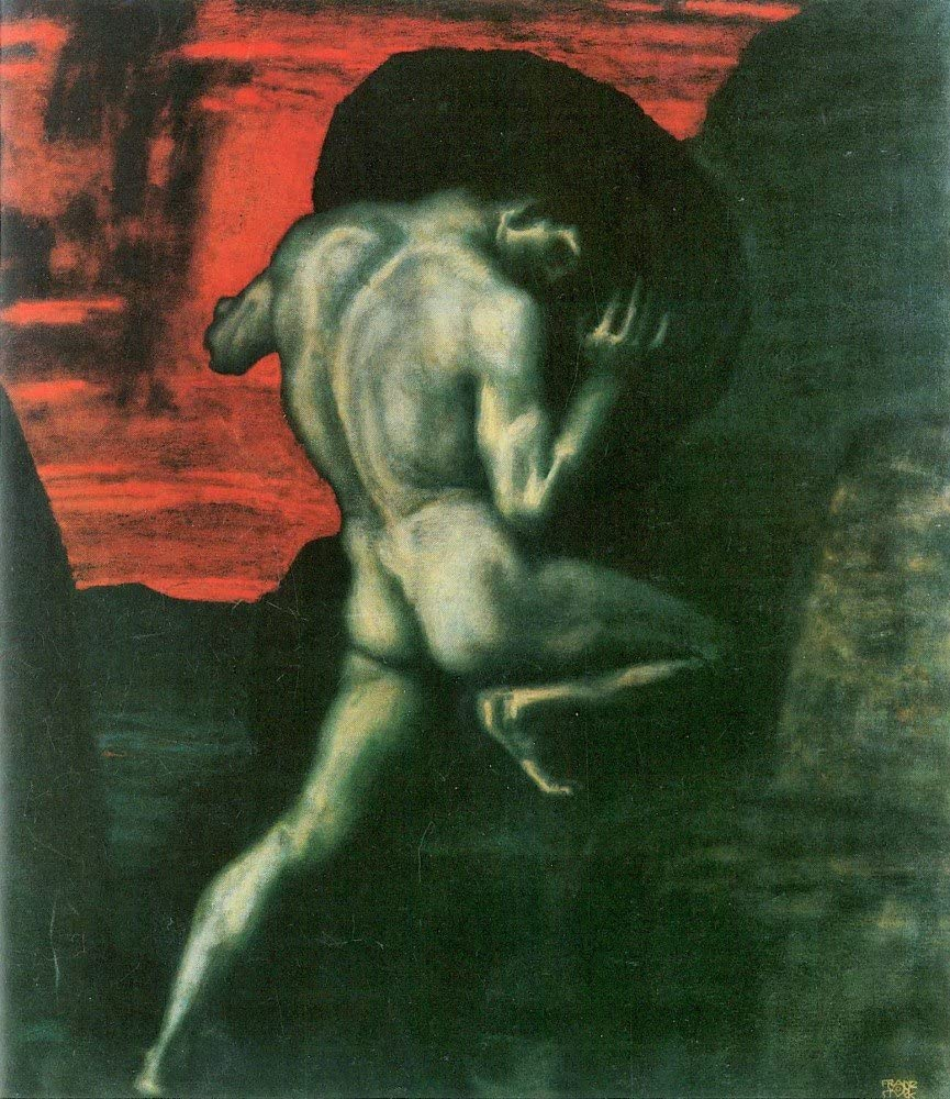 Amazon.com: The Museum Outlet - Sisyphus by Franz von Stuck - Canvas Print  Online Buy (24 X 32 Inch): Posters & Prints