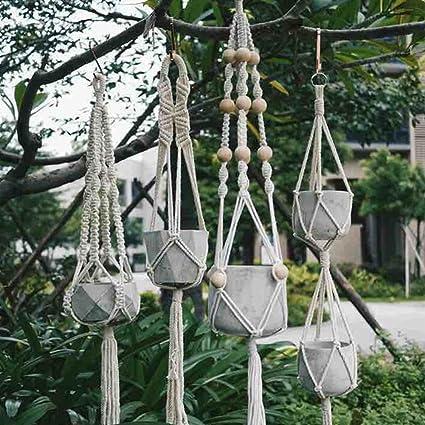 maaryee planta perchas 2 Pack cuerda planta percha 40