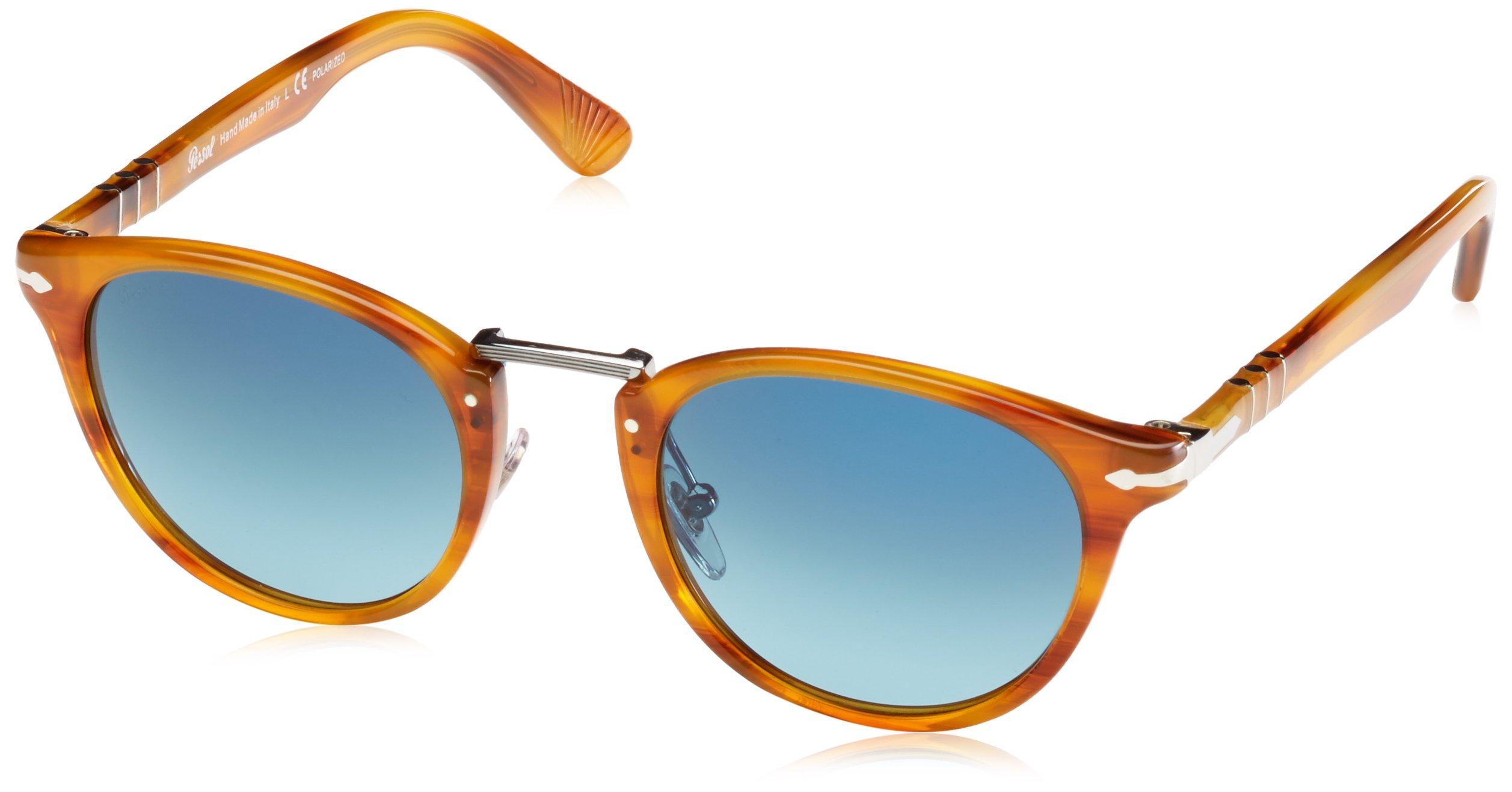 ویکالا · خرید  اصل اورجینال · خرید از آمازون · Persol Mens Sunglasses (PO3108) Brown/Blue Acetate - Polarized - 49mm wekala · ویکالا