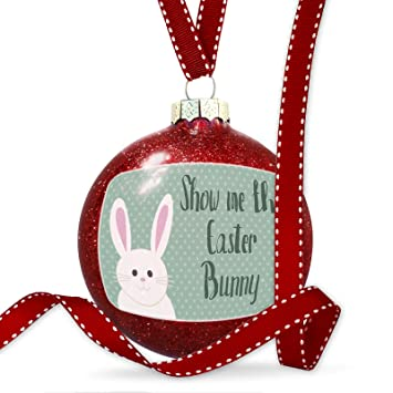 christmas decoration show me the easter bunny cute easter bunny with polka dots ornament - Show Me Christmas Decorations