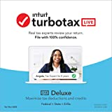 TurboTax LIVE Deluxe 2020 (Browser-Based version includes Federal, State, both e-files, and unlimited tax advice from real ta