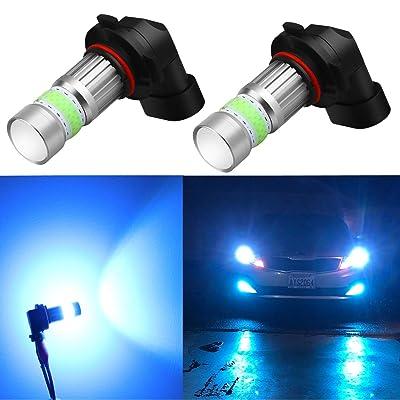 Alla Lighting HB4 9006 LED Fog Lights Bulbs 8000K Ice Blue 2800lm Xtreme Super Bright COB-72 12V Replacement: Automotive