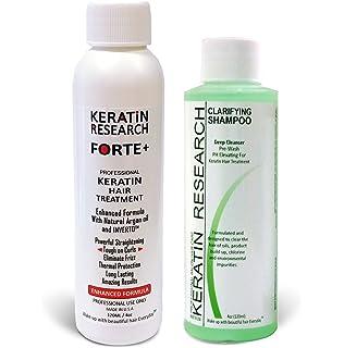 Keratina Forte Brasilera por 120ml Con Champú Clarificante, Tratamiento Que Alisa El Cabello Ahora Con