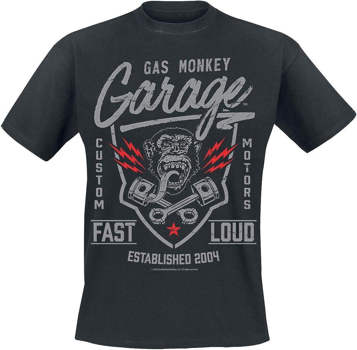 Gas Monkey Garage Shirt Fast N Loud Classic Logo Oficial de Los Hombres Nuevo