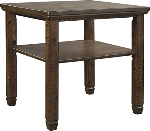 Signature Design by Ashley – Royard Casual End Table w Fixed Shelf, Brown