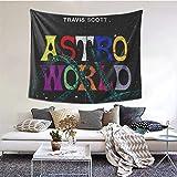 Coolertaste Astroworld Poster Tapestry Wall Hanging for Living Room Bedroom Dorm Room Home Decor 60 X 51 in