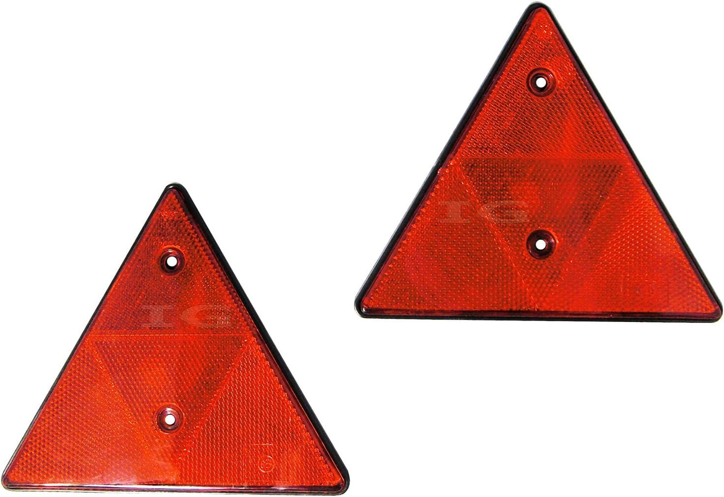 2 Stück Dreieckrückstrahler Anhänger 150 Mm Rückstrahler Reflektor Dreieck Auto