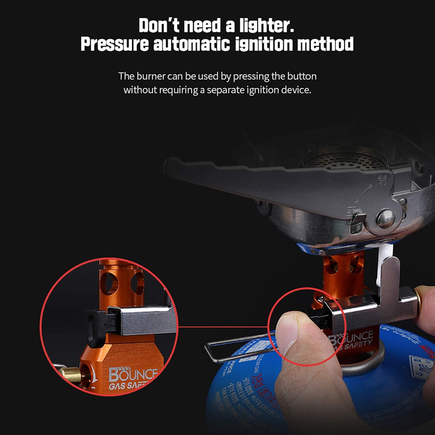 Bounce Gas-Safety Gaskook LB-2020 Automatically Gas Cut-off Camping and Backpacking Stove
