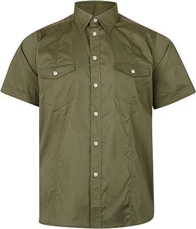 Kam - Camisa con bolsillos elásticos para hombre, talla ...