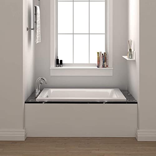 Fine Fixtures Drop In White Soaking Bathtub