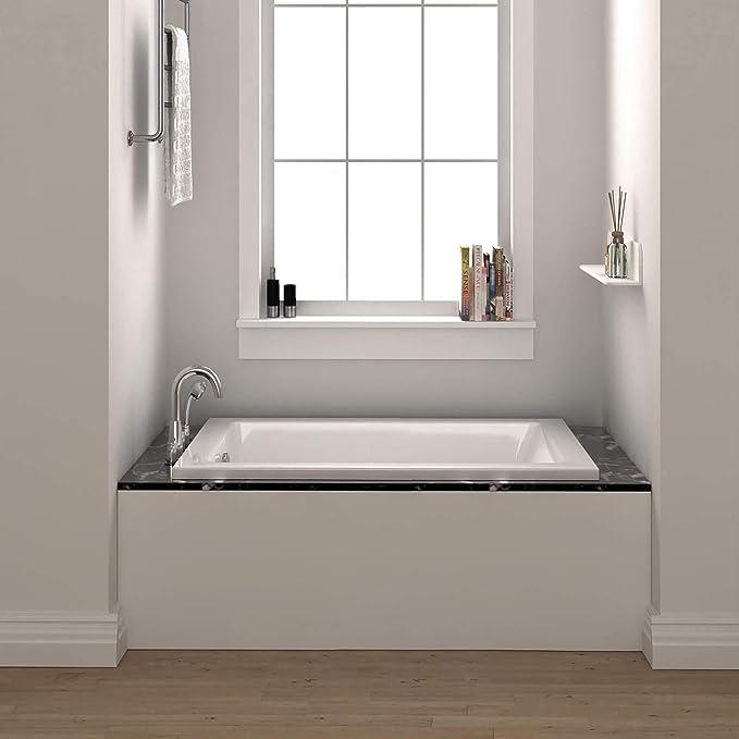 Fine Fixtures 60 Inch Soaking Drop In Or Alcove Bathtub 60 X 32 X 19 Amazon Com