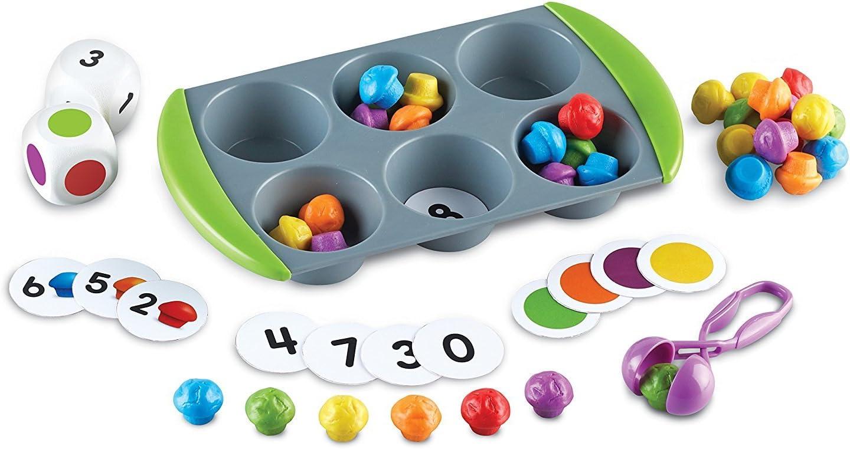 Learning Resources-Set de Actividades de matemáticas Mini Muffin Match Up (LER5556)