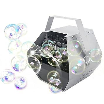 CO-Z Máquina de Burbujas Automáticas Máquina de Espuma de Jabón Máquina de Efecto de Escenario Portátil para Fiesta de Cumpleaños/Boda: Amazon.es: ...