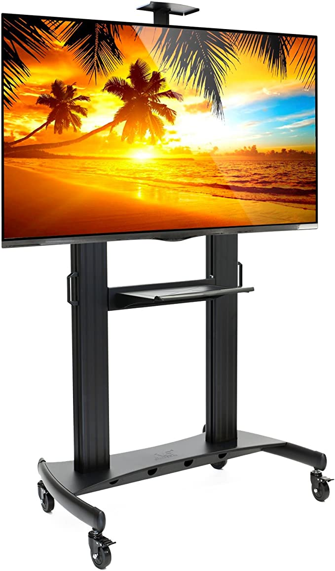 Rolling TV Stand Mobile TV Cart for 60-100 Inch Flat Screen, LED, LCD, OLED, Plasma Curved TV s – Soporte Universal con Ruedas: Amazon.es: Hogar