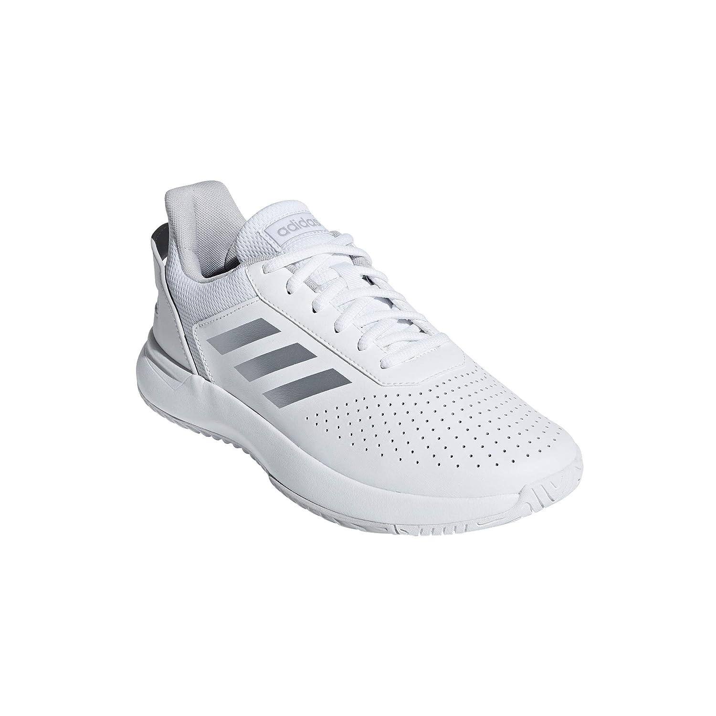 Blanc (Ftw Bla Plamat Gridos 000) 37 1 3 EU adidas Courtsmash, Chaussures de Fitness Femme