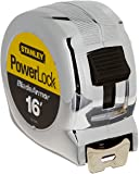 Stanley 33-516 Powerlock Tape Rule Reinforced with Blade Armor Coating, 16-Feet x 1-Inch,  Chrome