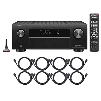 Denon AVR-X4400H 9 2CH High Power 4K Ultra HD AV Receiver Cutting Edge Home  Theater with HEOS and Amazon Alexa Voice Control with 8 HDMI Cables -
