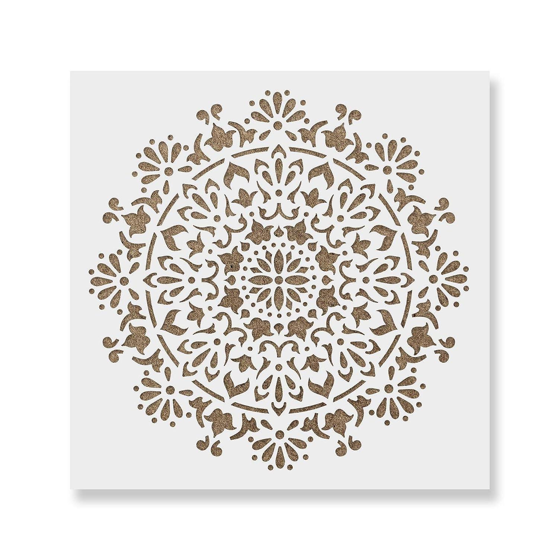 福袋 Bliss Mandalaステンシルテンプレートの壁、ペイントする工芸 – – 30