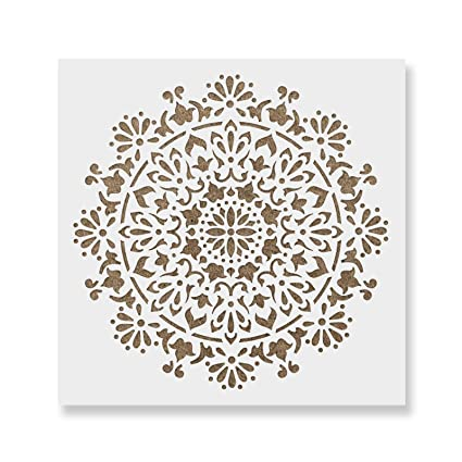 amazon com bliss mandala stencil template walls crafts reusable