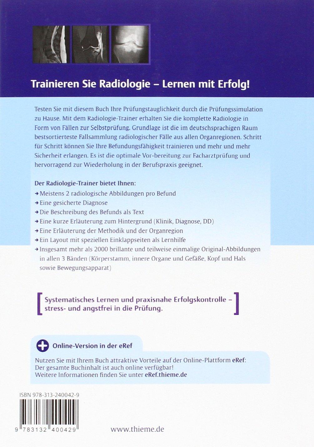 Radiologie-Trainer Bewegungsapparat: Amazon.de: Axel Stäbler, Birgit ...