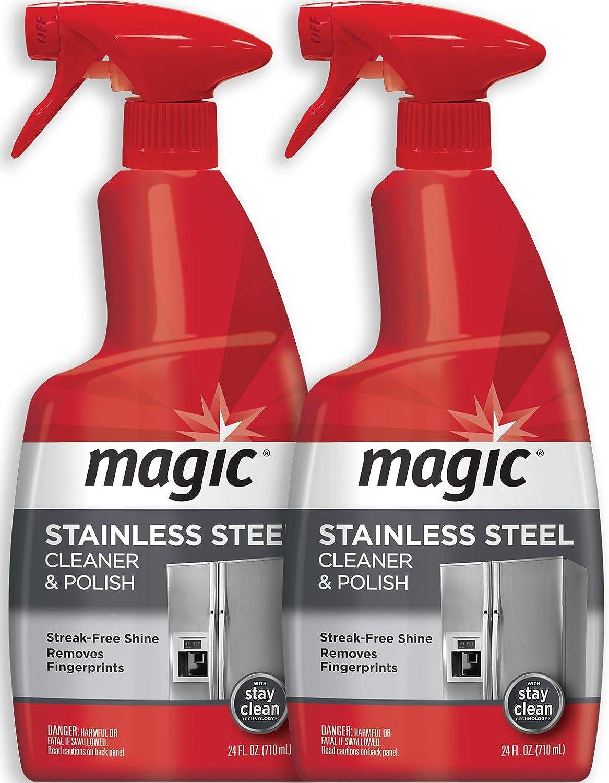 Amazon.com: Limpiador en spray de acero inoxidable mágico ...
