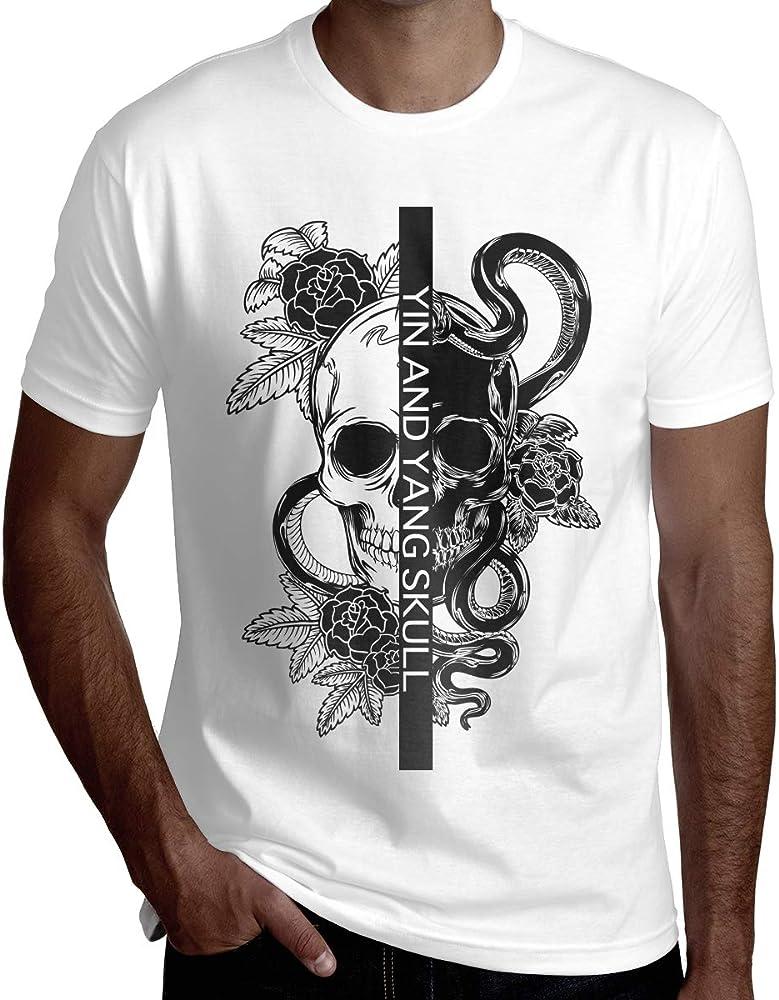 Camiseta de Manga Corta de los Hombres del cráneo Tribal de Yin ...