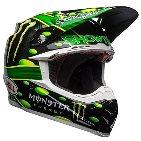 Amazon.es: 7093192 - Bell Moto-9 Flex Monster McGrath Motocross Helmet XL Black Green