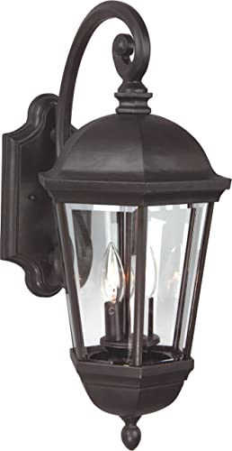 Craftmade Z3024-OBO Britannia Outdoor Wall Mount Sconce Lighting, 3-Light, 180 Watts, Oiled Bronze 12 W x 26 H
