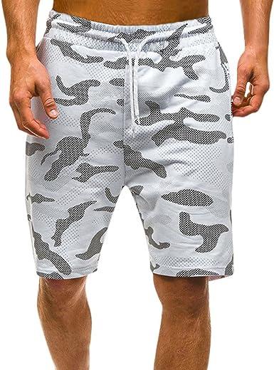VPASS Pantalones Hombre, Verano Chándal de Hombres Camuflaje ...