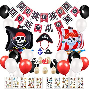 Kreatwow Kit de Decoraciones de Fiesta Pirata: Suministros ...