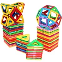 shengqing Magnetic Tiles Building Blocks Toys, 30Pcs Magnetic Building Blocks Set, Magnetic Toys Magnets for Kids or Toddlers, Educational Construction Toys for Kids Girls Boys Age