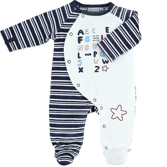 1d2e307195f99 Noukie s Noukies Z881133 Pyjama grenouillère en Velours Bébé Garçon   Amazon.fr  Vêtements et accessoires