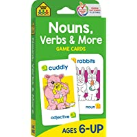 School Zone - Nouns, Verbs & More Game Cards - Ages 6+, Grammar, Parts of Speech, Word-Picture Association, Sentence…