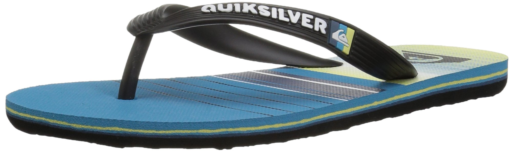 Quiksilver Boys' Molokai SWELL Vision Youth Sandal Black Blue, 1(32) M US Little Kid