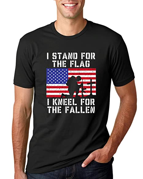 83fa0c359a Amazon.com: Wild Bobby I Stand for The Flag Shirt, I Kneel for The ...