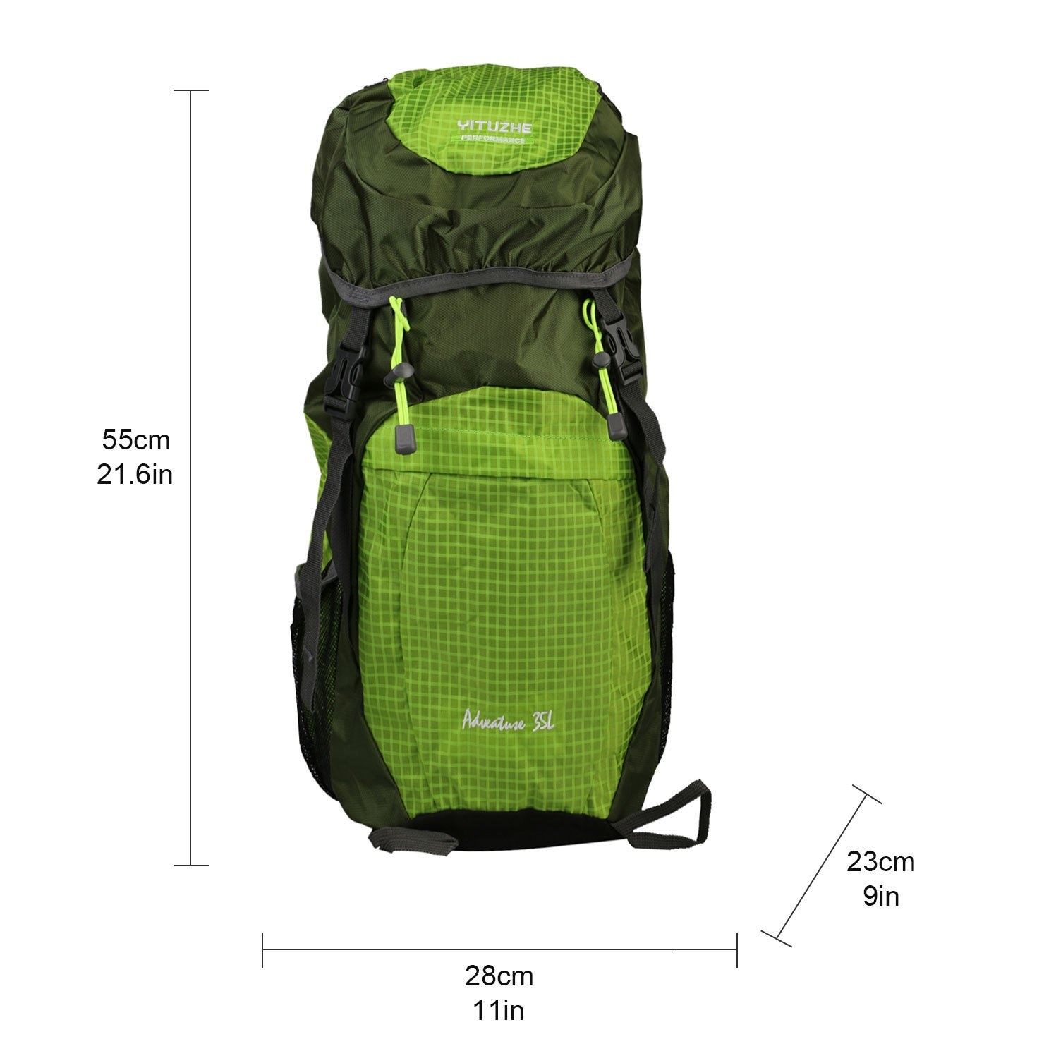 35L Waterproof Ultra Lightweight Packable Travel Hiking Climbing Backpack Daypack with Survival Whistle, Small Handy Foldable Camping Outdoor Backpack Little Bag