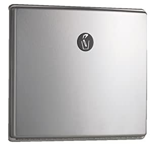 "Bobrick 4353 ConturaSeries Stainless Steel Recessed Sanitary Napkin Disposal, Satin Finish, 1.2 Gallon Capacity, 12-3/4"" Width x 11"" Height"
