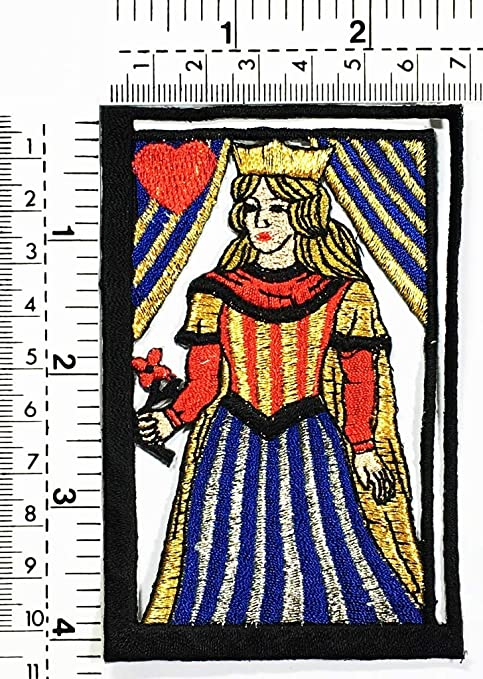 Amazon Com Poker Card Queen Hold Flower Queen Of Hearts Poker