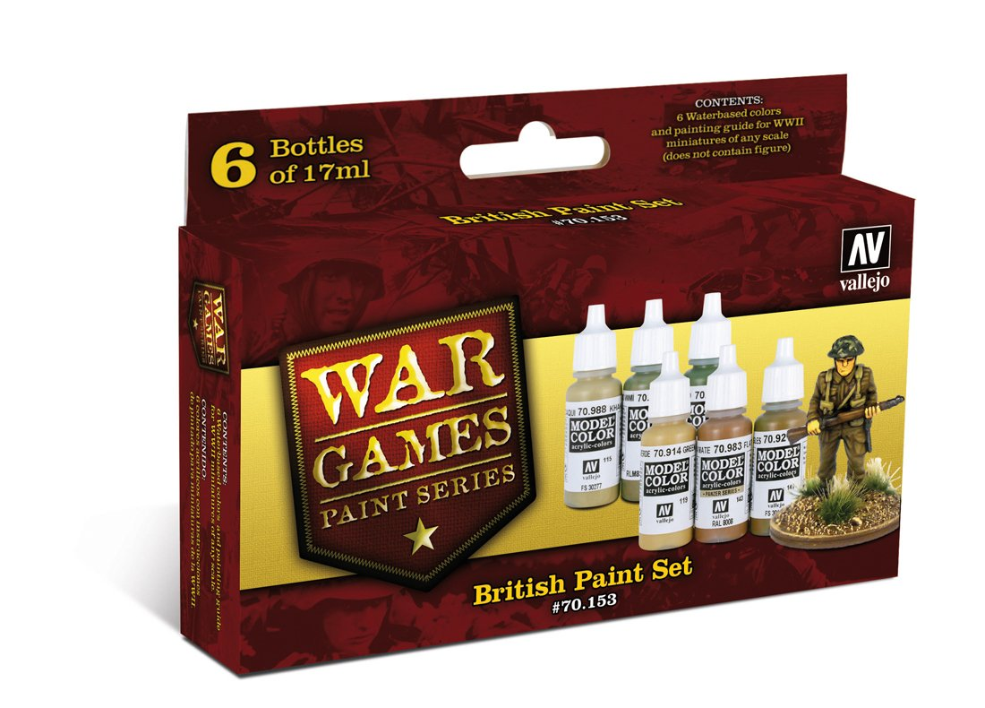 Av Vallejo Model Color Set -wwii Wargames - British