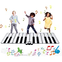 """Costzon Giant Keyboard Playmat - 102.5""""×29.5"""" 24 Keys Piano Play Mat, Foldable Activity Mat w/ 9 Selectable Musical Instruments, Play - Record - Playback - Demo - Tone Conversion Modes, Support MP3"""