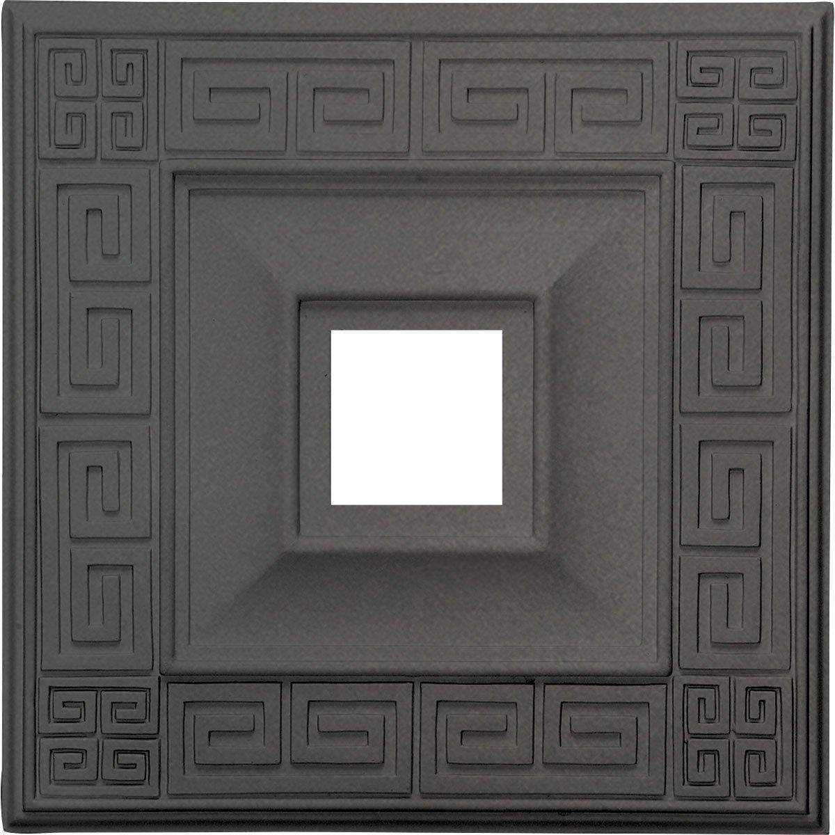 Ekena Millwork CM18ERSGS Eris Ceiling Medallion, Steel Gray