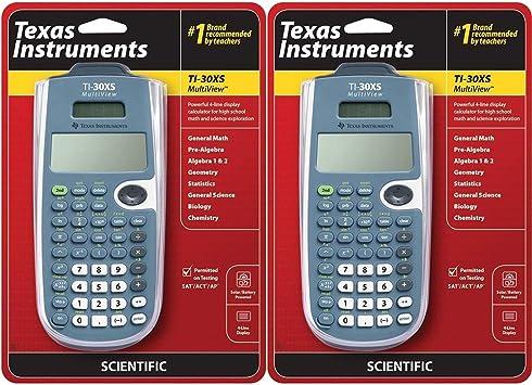 Texas Instruments TI-30XS Multiview Scientific Calculator (2 Pack)