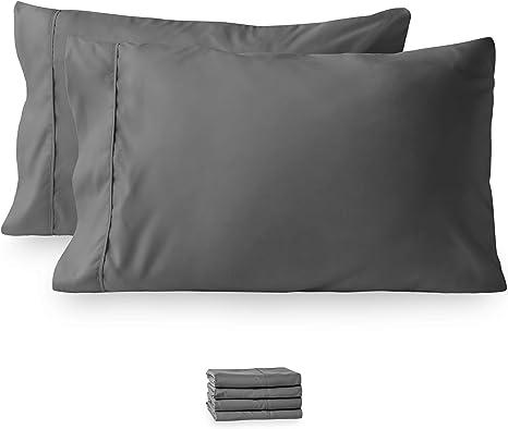 Standard Ultra Soft Pillowcase Set of 4 Pillowcases 1800 Pillow Case Set Queen
