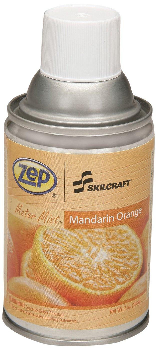 SKILCRAFT 6840-01-459-8263 Zep Meter Mist Refill Air Freshener Aerosol Can, Mandarin Orange (Pack of 12)