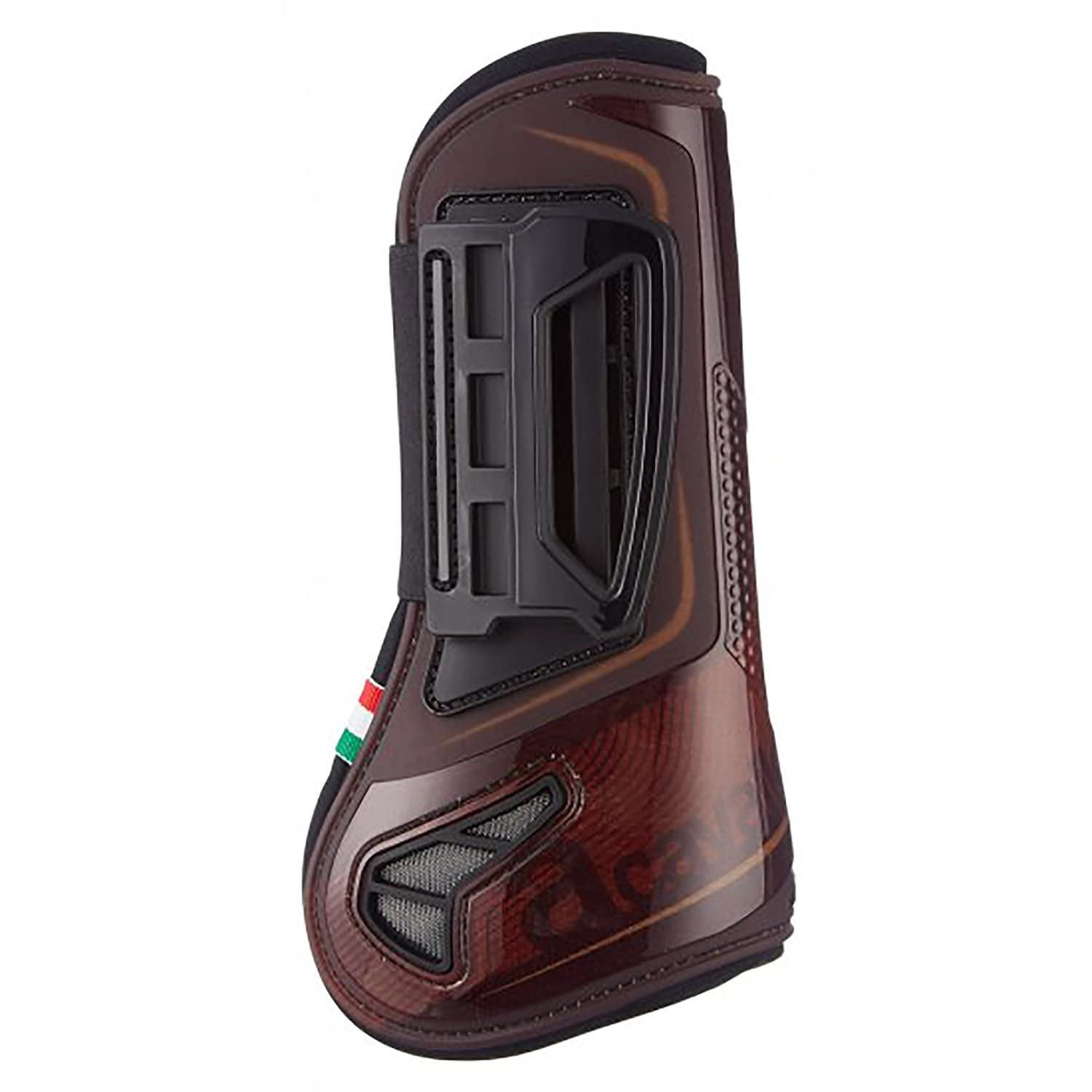 Image of Acavallo Opera Tendon Boots Brown Medium Equestrian Sports
