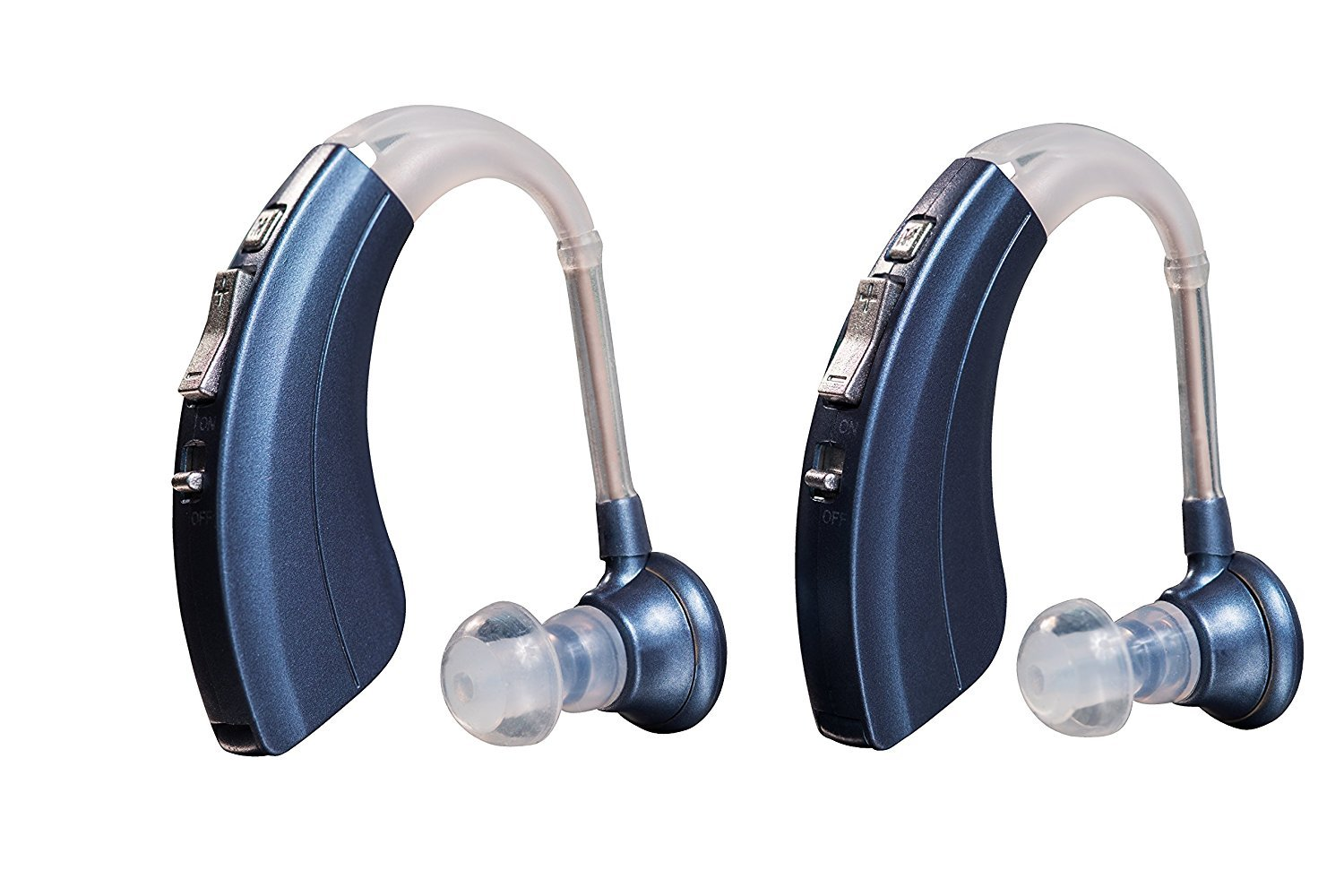 Double Pack Blue Premium Quality Hearing Amplifier, Comfortable and Easy to Operate, B-220-HA-BD by Britzgo