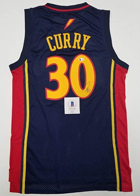 wholesale dealer e6f16 38a62 Signed Stephen Curry Jersey - Rookie Size L BECKETT ...