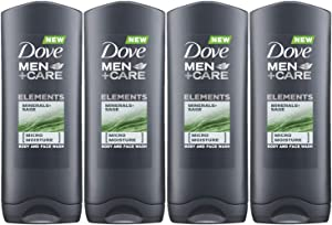 Dove Men+Care Elements Body Wash, Minerals and Sage, 13.5 Ounce / 400 Ml (Pack of 4) Imported Version
